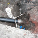 new pipe installed by slip lining